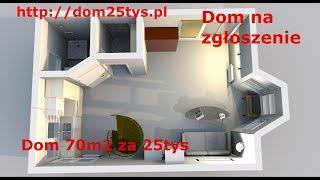 Nowy projekt domu 35m2 z poddaszem w systemie szkieletowym, Dom na zgłoszenie, dom25tys #pawełwaga