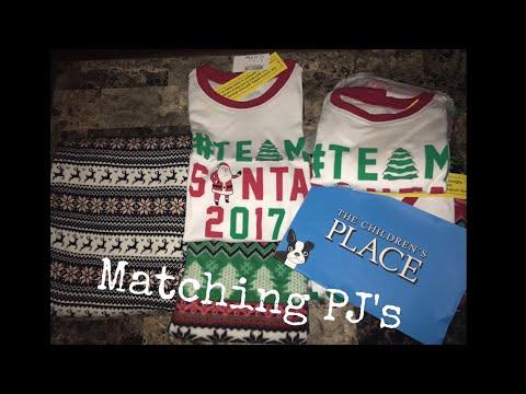 childrens place haul matching christmas pajamas