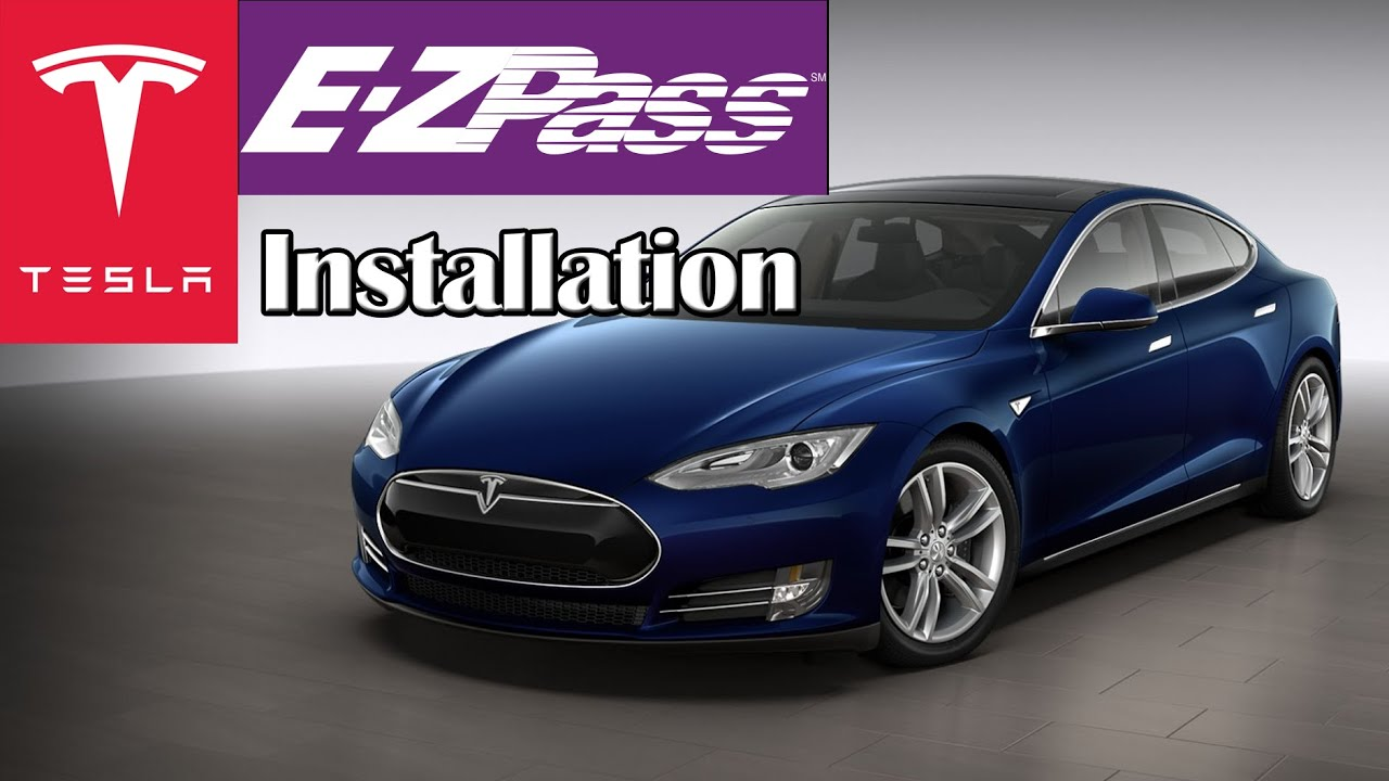 Tesla E Zpass External Tag Installation Youtube