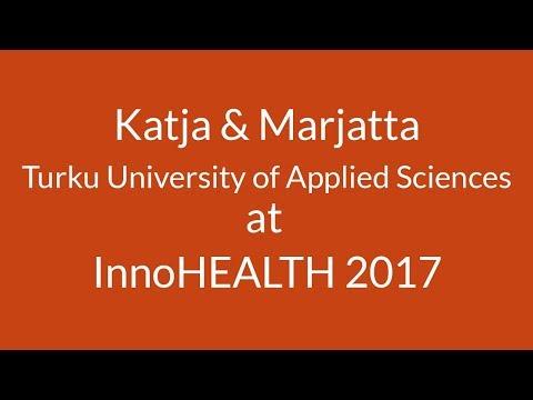 Katja and Marjatta from Turku University of Applied Sciences at InnoHEALTH 2017