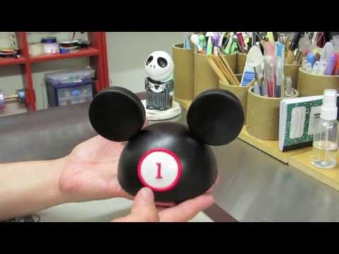 Mickey Mouse Hat Cake Topper! How To Make A Mickey Mouse Hat Cake Topper