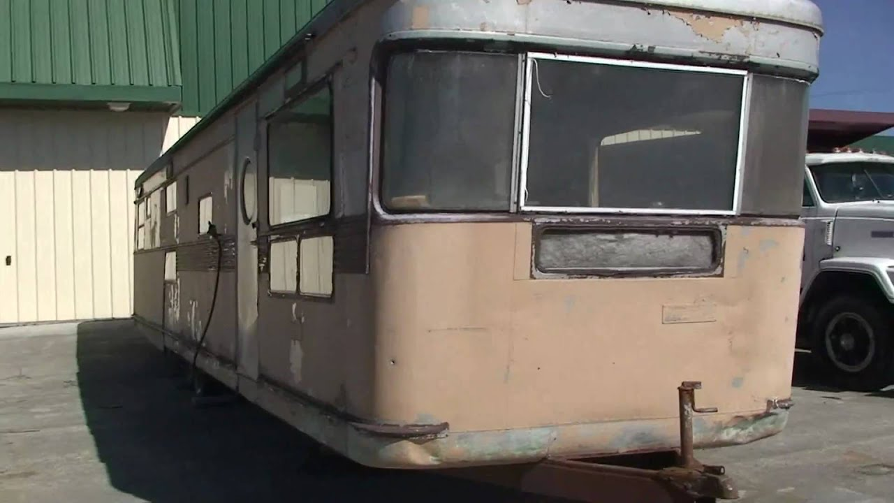 VERY OLD ANTIQUE SPARTAN TRAVEL TRAILER FROM THE 50'S IN WEST VIRGINIA - YouTube