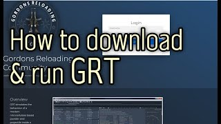 (english) Tutorial How to download and run GRT