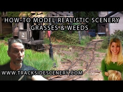 Designing Realistic Model Railway Toy Train Scenery – Grasses and weeds!