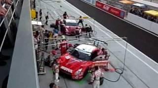 JGTC 2009 GTポッカ700km  大混乱の日産GTR勢 ピット作業