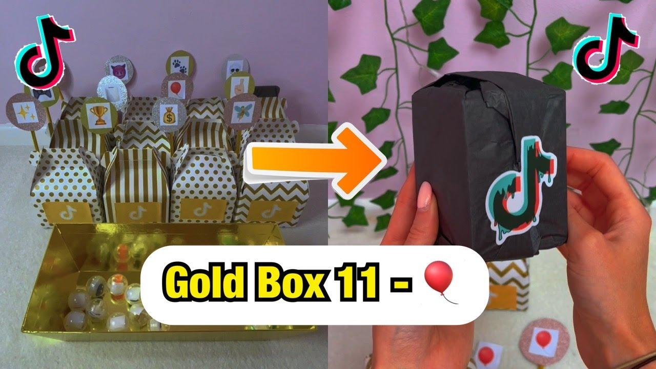 TikTok Mystery GOLD Boxes - Box 11!🎈 #Shorts