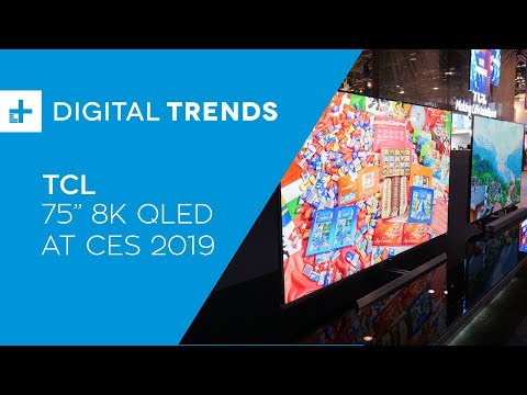 TCL 75-Inch 8K QLED TV - Hands On at CES 2019