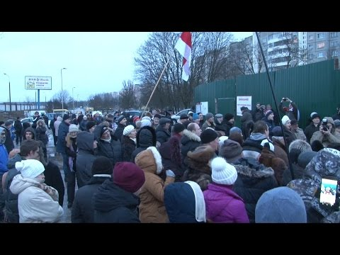 Собрание жителей Зеленого Луга  и противников строительства бизнес-центра вблизи Куропат