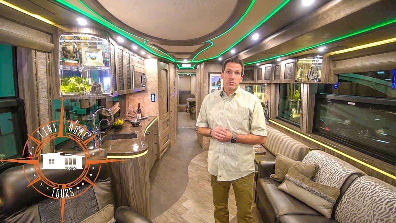 2 8 million dollar rv tour 2018 marathon prevost for Million dollar motor homes
