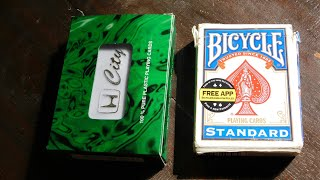 Indian plastic cards vs bicycle paper cards