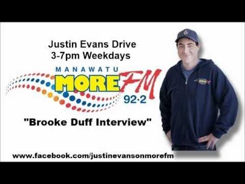Justin Evans Chats to Brooke Duff | More FM Manawatu