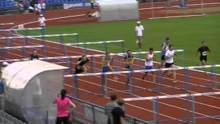 Уникальный финиш на 110 с барьерами Чемпионат Украины Юниоры 16.06.13
