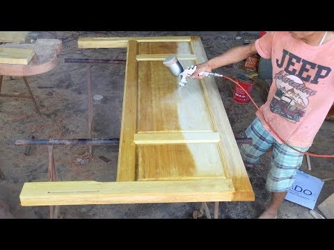 [DETAIL] How To Polish & Paint Large Wooden Bed 🛠 Woodworking Project WITH AMAZING SKILLS