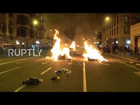 Spain: Barcelona Police deploy water cannon for first time as protests continue for fifth day