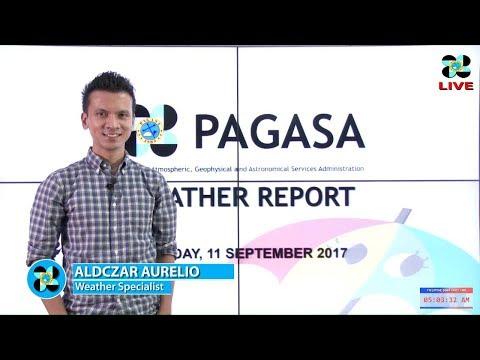 "Presscon: Tropical Depression ""#MARINGPh"" and Typhoon ""#LANNIE"" (TALIM)   September 11, 2017 Monday"