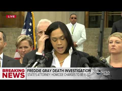 Freddie Gray's Death Ruled a Homicide   6 Cops Charged With Murder