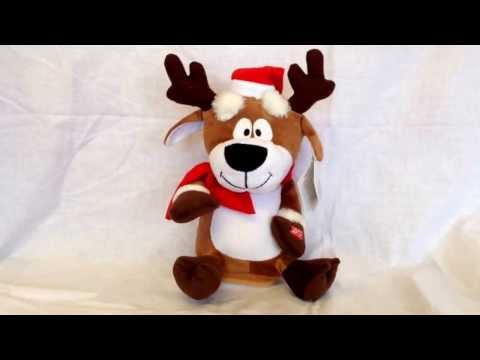 Premier Animated Battery Operated Musical Reindeer Christmas Decoration Xmas