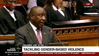 President Ramaphosa calls for Joint Sitting of Parliament on GBV