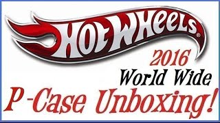 Unboxing Hot Wheels P Case 2016 with Treasure Hunt!