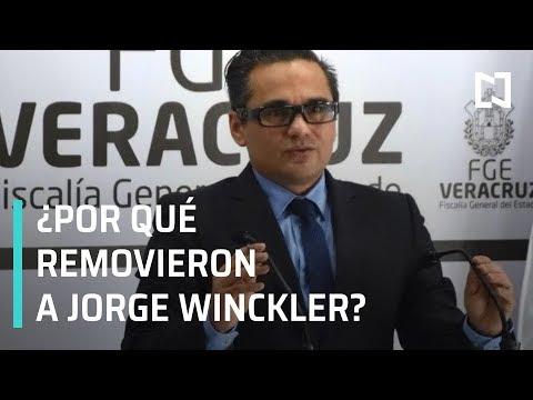 Así fue la separación de Jorge Winckler de la Fiscalía de Veracruz - En Punto