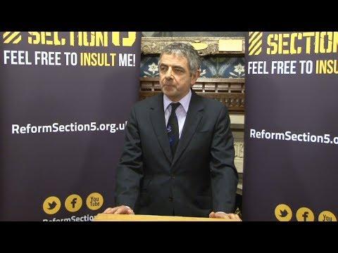 In full: Rowan Atkinson on free speech