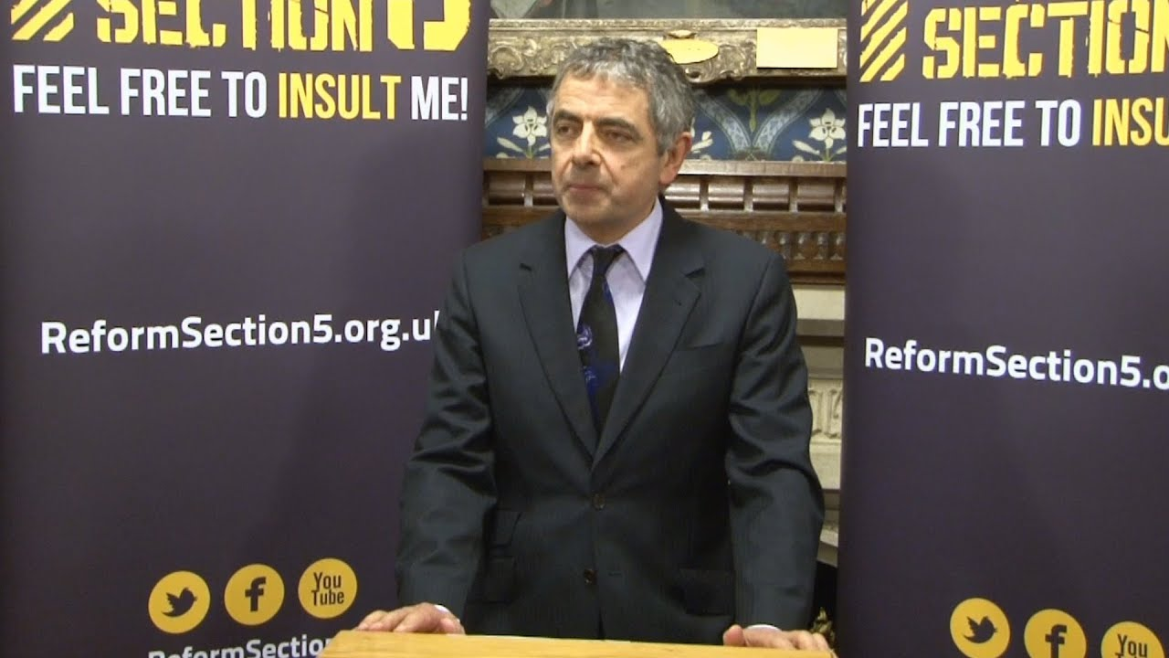 In full: Rowan Atkinson on free speech