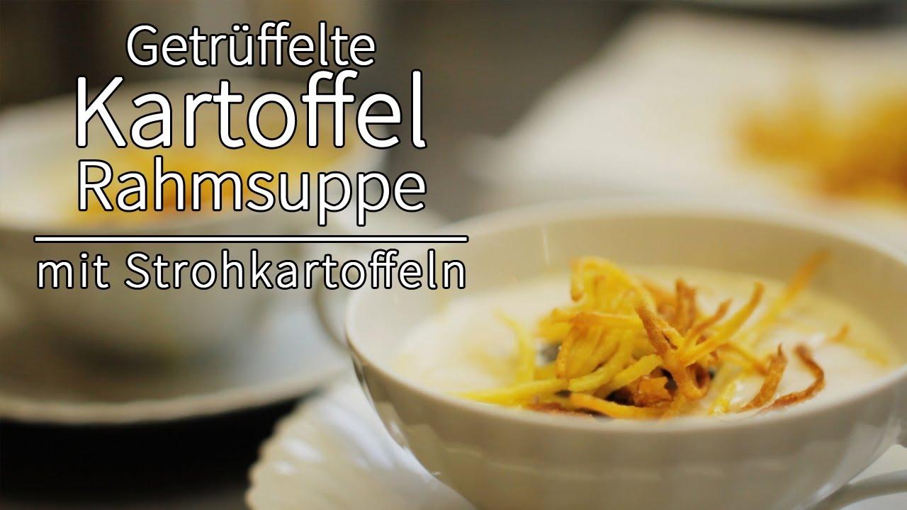 Rezept - Getrüffelte Kartoffelrahmsuppe mit Strohkartoffeln (Red ...