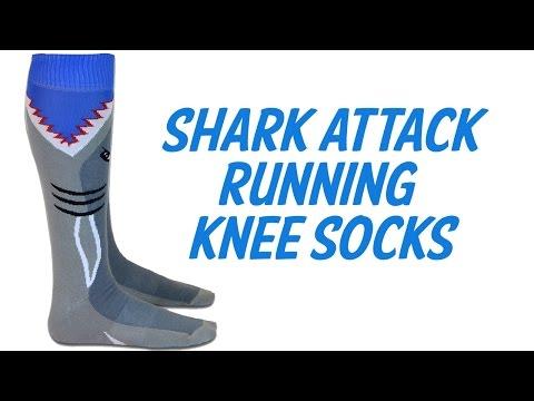 Shark Attack Knee High Running Socks