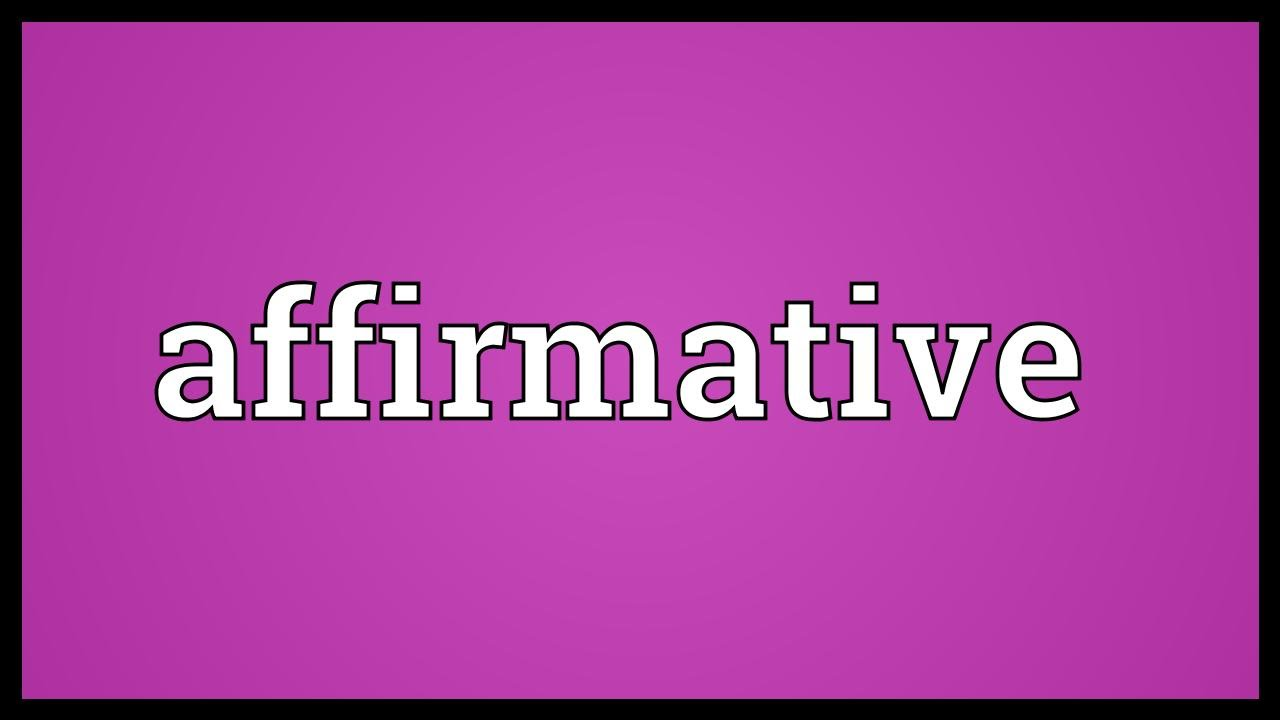 what is the meaning of affirmative Here are some examples of yes/no interrogative sentences: mister, can you spare a dime did you take your vitamin this morning  what is the meaning of this.