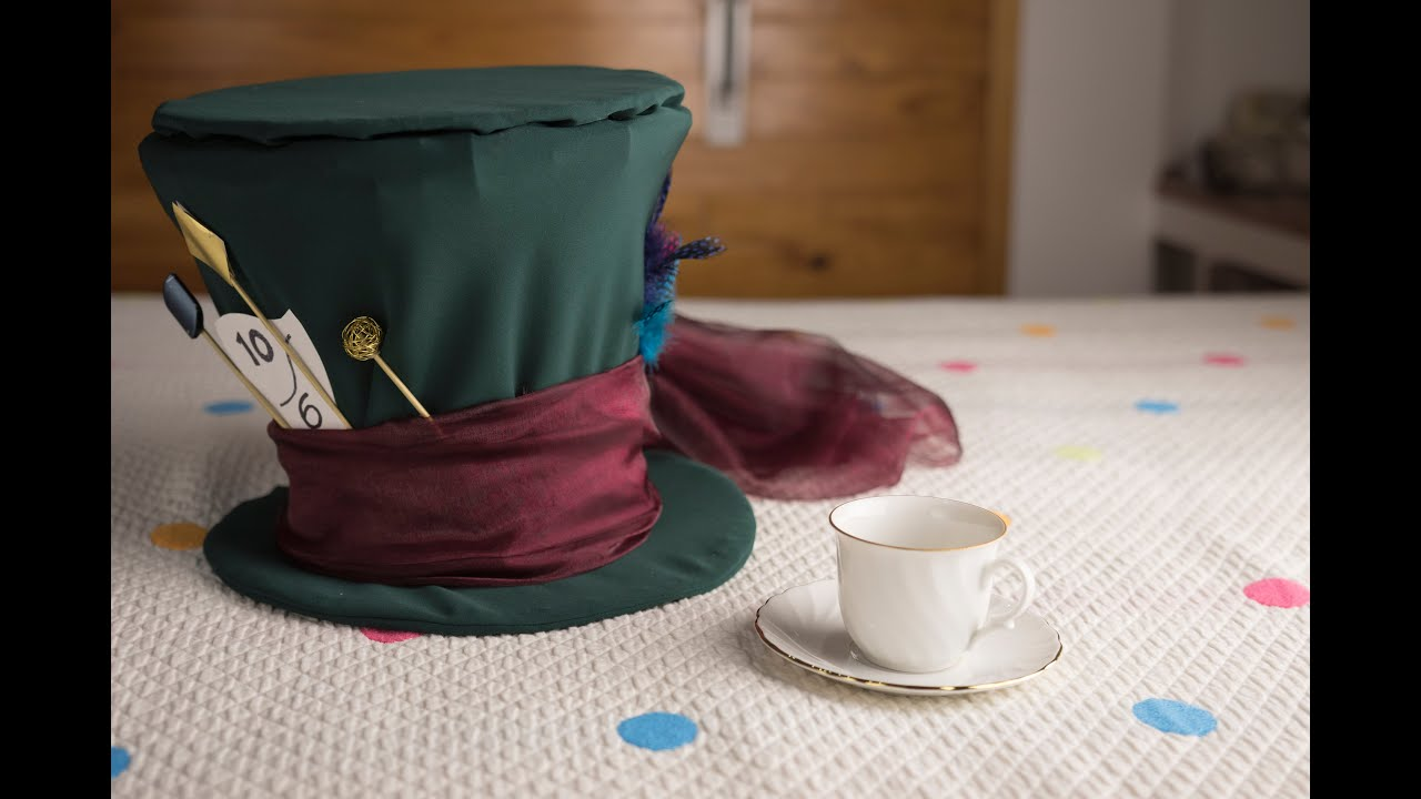 Diy Mad Hatter Hat Liliana Alves Youtube