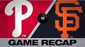 Pillar, Smith fuel Giants&#39 8th-inning rallyPhillies-Giants Game Highlights 8/11/19