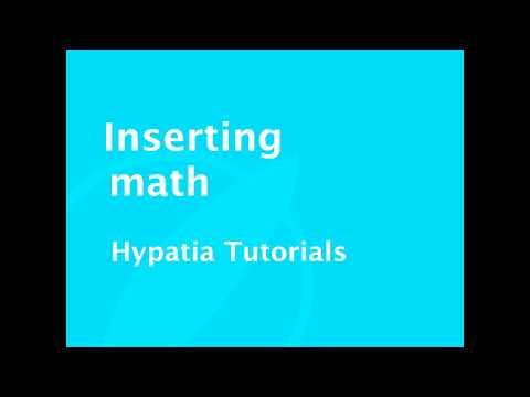 Tutorial   Inserting math