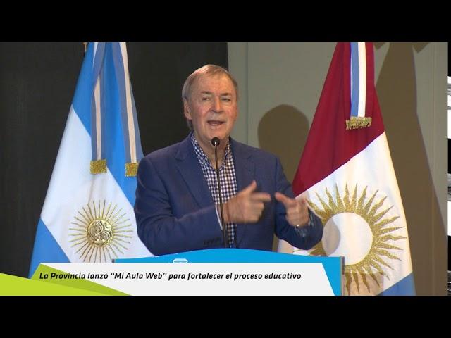 """La Provincia lanzó """"Mi Aula Web"""" para fortalecer el proceso educativo"""