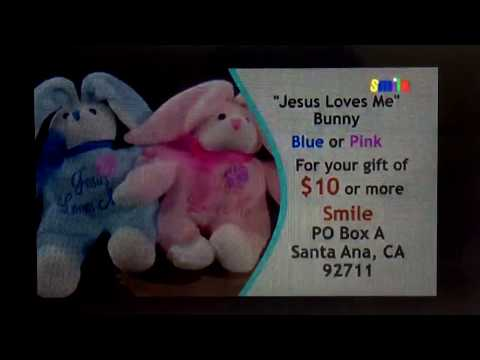 Smile Jesus Loves Me Bunny Blue and Pink Thank You Gift 2017-Present