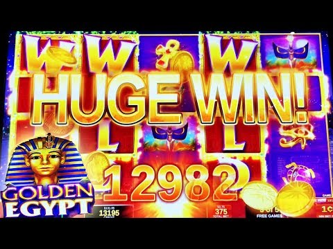 ✨ HUGE WIN ✨ GOLDEN EGYPT LIVE PLAY & BONUS SLOT MACHINE