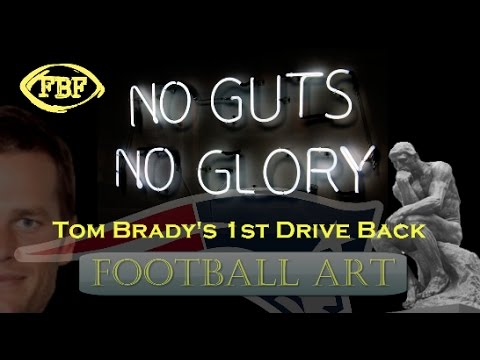 tom-brady's-1st-patriots-drive-back:-football-art