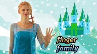 ★ Frozen Elsa Finger Family Song ★ Real Life Superhero & Princess Daddy Finger Rhyme for Children ★