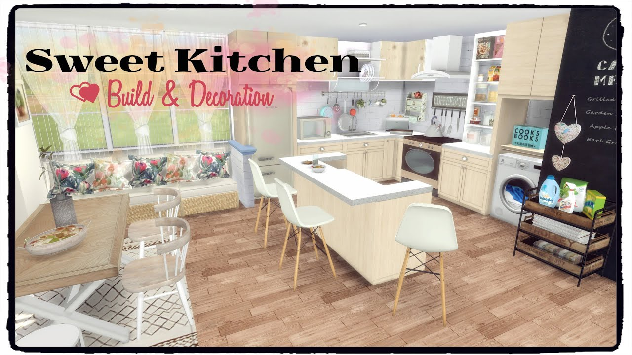 Sims 4 - Sweet Kitchen (Build & Decoration for download) - YouTube