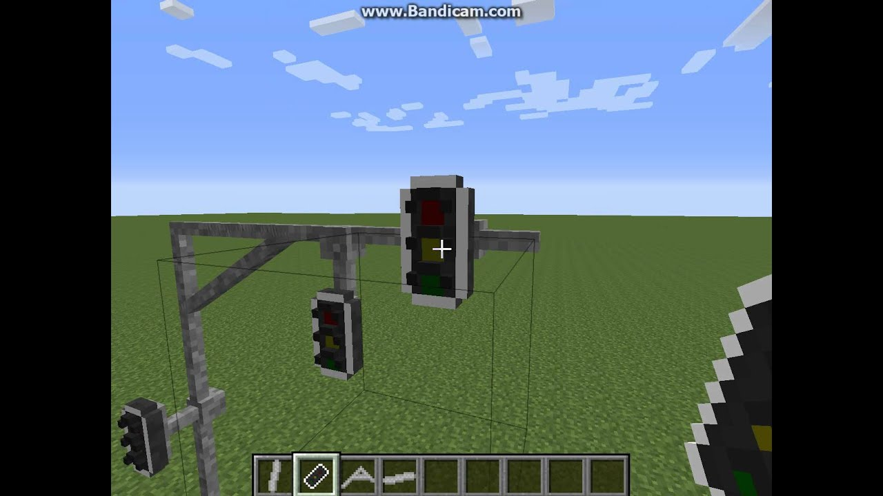 Minecraft How To Make A Overhead Traffic Light Easy