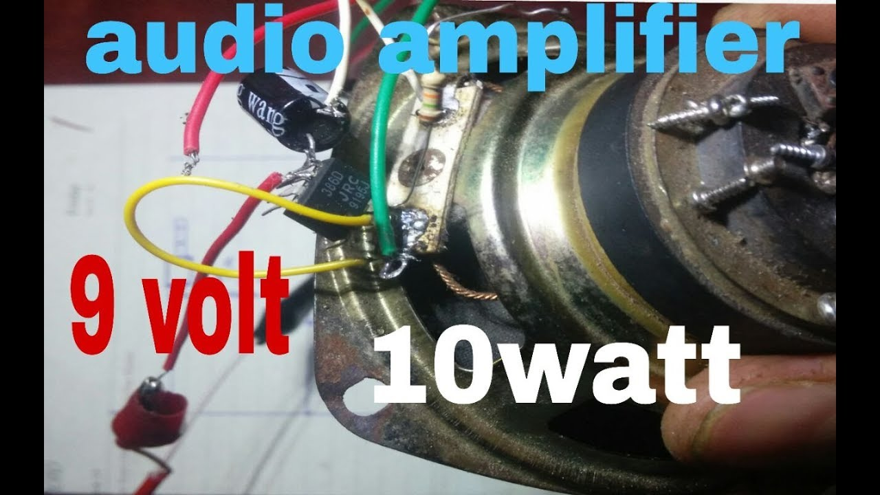 Simple Audio Amplifier Circuit 100 Working Youtube Circuits