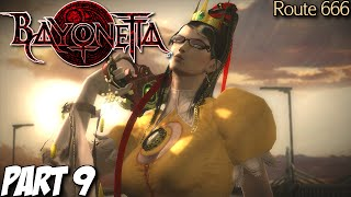 Bayonetta Gameplay Walkthrough Part 9 - Route 666 - Wii U