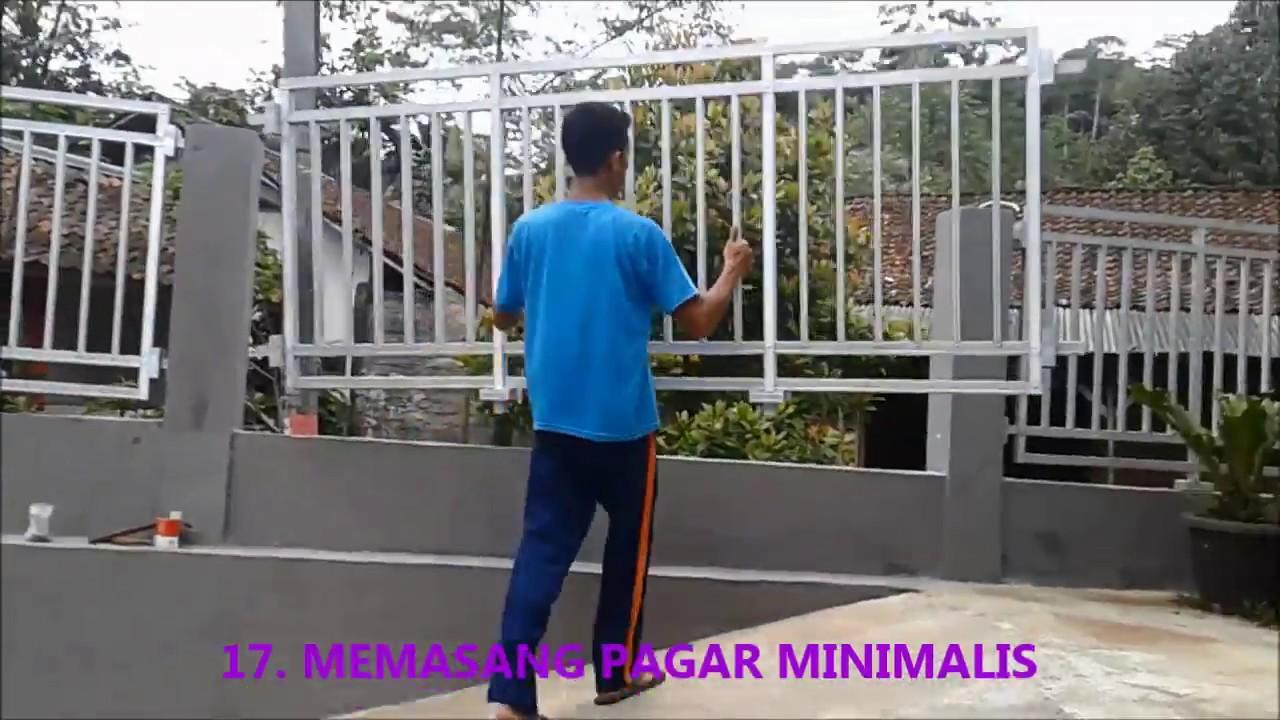 """Pagar Rumah Minimalis Kreasi Sendiri Bahan Baja Ringan """"HOLLOW"""" Hemat 75%  #6/11 - YouTube"""