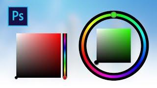 Выбор цвета при рисовании в фотошопе