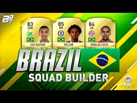 FIFA 17 | EXPENSIVE BRAZIL SQUAD BUILDER!