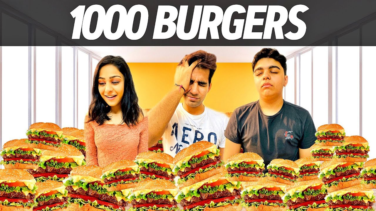 GIVING BURGERS for 1000 TIMES | Rimorav Vlogs - YouTube