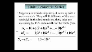 Finite Geometric Series