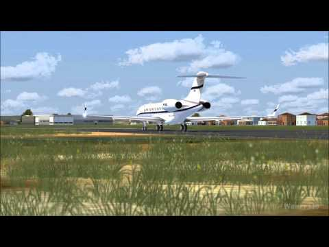 FSX - Takeoff Global Express 6000 HD