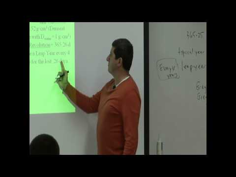 Lecture 7a (Sidereal Period of Earth & Gregorian Calendar)