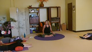 Great Neck Releasing, Low Back Supporting Yoga Sequence with Justine Shelton