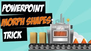 PowerPoint Morph with Slide Background Shapes Trick